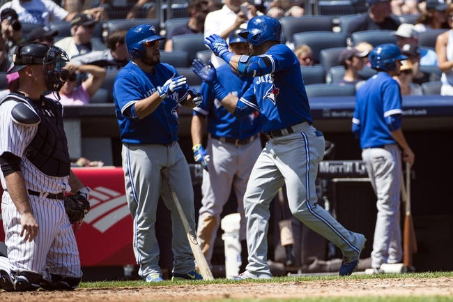 Blue Jays vs. Yankees - 8/14/15 MLB Pick, Odds, and Prediction