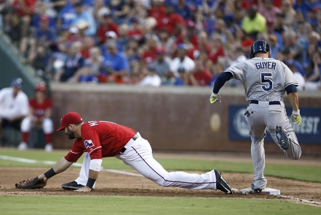 Texas Rangers vs. Tampa Bay Rays - 8/15/15 MLB Pick, Odds, and Prediction