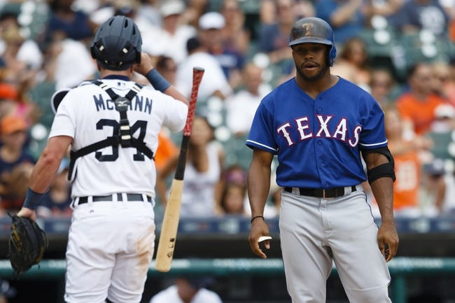Texas Rangers vs. Detroit Tigers - 9/28/15 MLB Pick, Odds, and Prediction