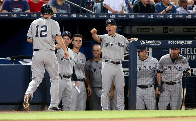 Atlanta Braves vs. New York Yankees - 8/30/15 MLB Pick, Odds, and Prediction