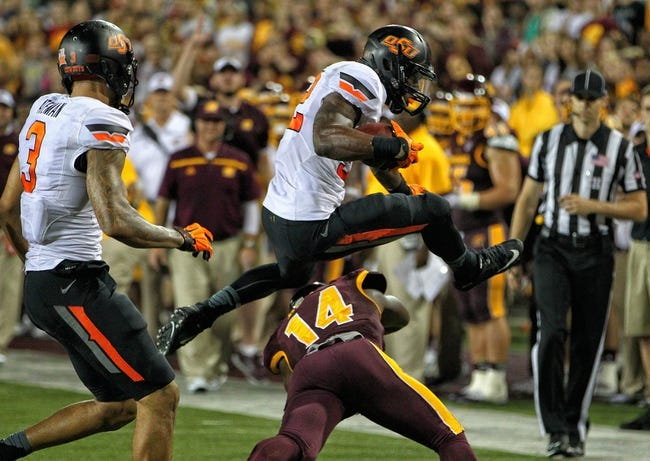 Central Michigan Chippewas at Oklahoma State Cowboys - 9/10/16 College Football Pick, Odds, and Prediction