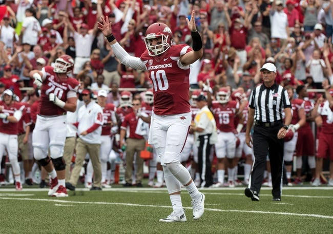Toledo Rockets vs. Arkansas Razorbacks - 9/12/15 College Football Pick, Odds, and Prediction