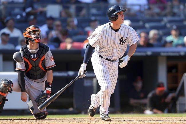 New York Yankees vs. Baltimore Orioles - 9/8/15 MLB Pick, Odds, and Prediction