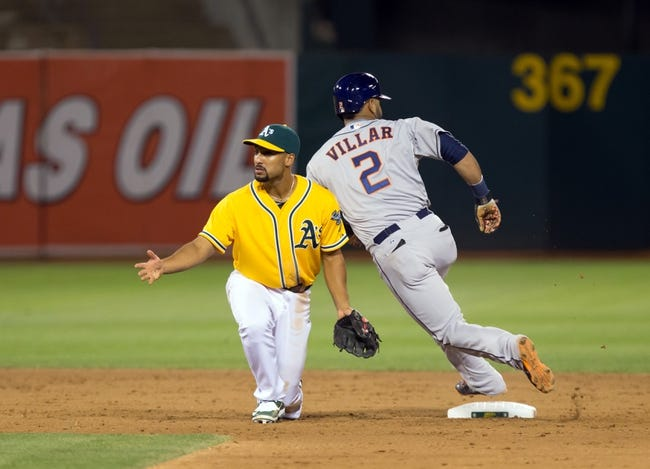 Houston Astros vs. Oakland Athletics - 9/18/15 MLB Pick, Odds, and Prediction