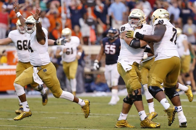 ND Fighting Irish at Clemson Tigers - 10/3/15 College Football Pick, Odds, and Prediction