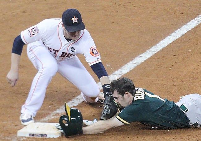 Houston Astros vs. Oakland Athletics - 9/20/15 MLB Pick, Odds, and Prediction