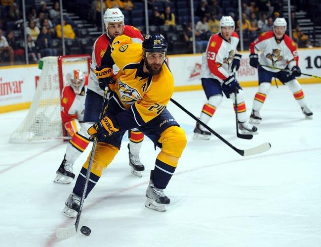 Nashville Predators vs. Florida Panthers - 12/3/15 NHL Pick, Odds, and Prediction