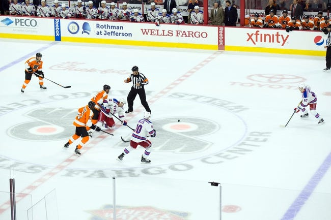 Philadelphia Flyers vs. New York Rangers - 10/24/15 NHL Pick, Odds, and Prediction