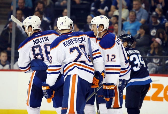 Edmonton Oilers vs. Winnipeg Jets - 12/21/15 NHL Pick, Odds, and Prediction