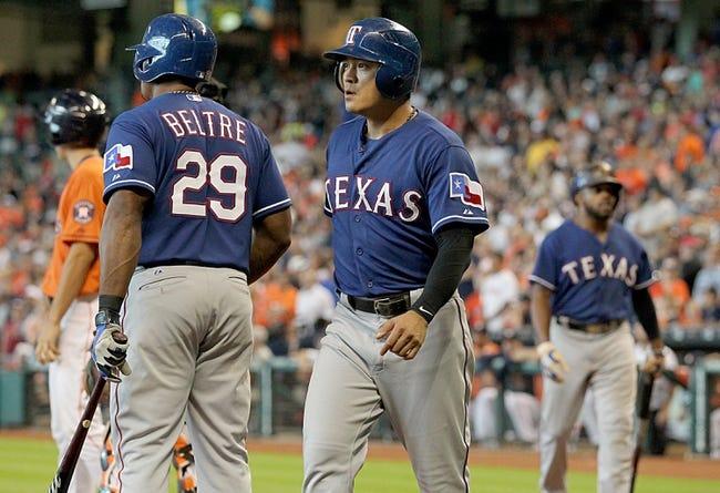 Rangers vs. Astros - 4/19/16 MLB Pick, Odds, and Prediction