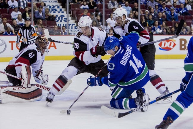 Arizona Coyotes vs. Vancouver Canucks - 10/30/15 NHL Pick, Odds, and Prediction
