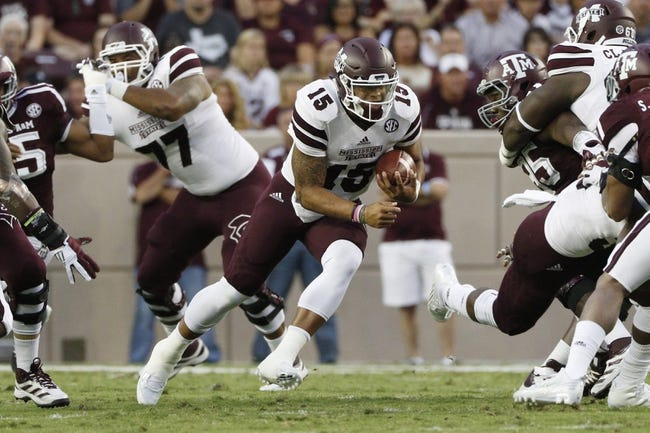 Mississippi State vs. Louisiana Tech - 10/17/15 College Football Pick, Odds, and Prediction