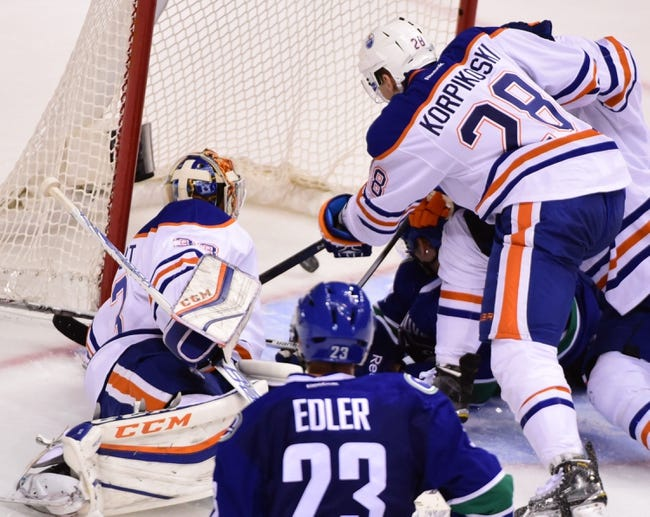 Vancouver Canucks vs. Edmonton Oilers - 10/18/15 NHL Pick, Odds, and Prediction