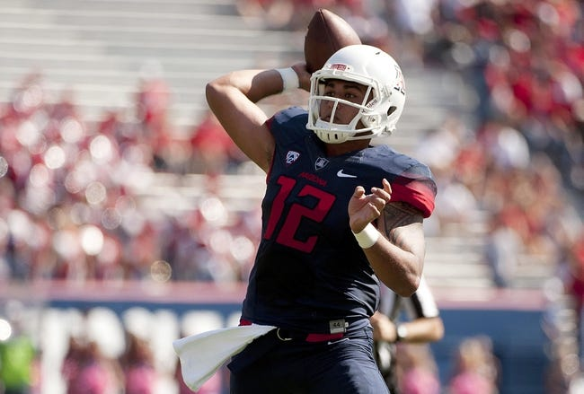 Washington State at Arizona - 10/24/15 College Football Pick, Odds, and Prediction