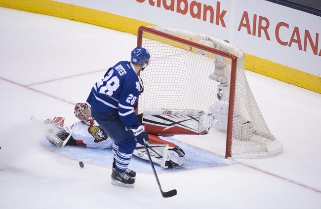 Senators vs. Maple Leafs - 2/6/16 NHL Pick, Odds, and Prediction