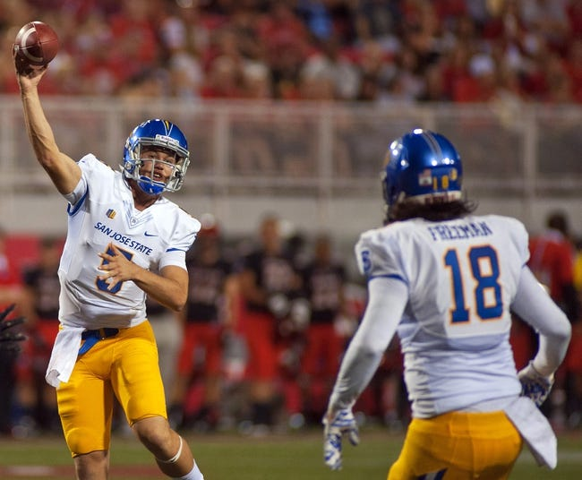 San Jose State Spartans vs. BYU Cougars - 11/6/15 College Football Pick, Odds, and Prediction