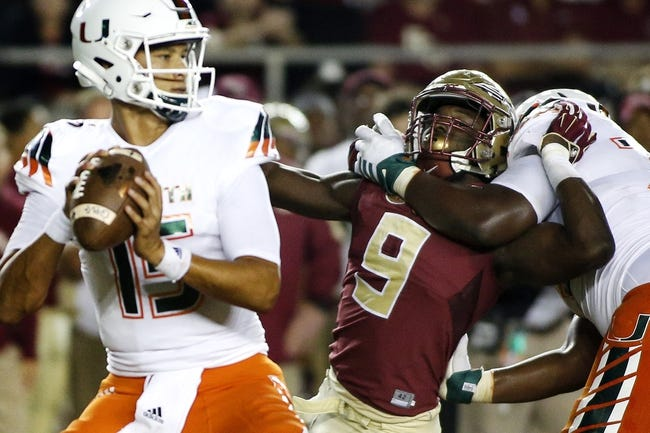 Miami Hurricanes vs. Virginia Tech Hokies - 10/17/15 College Football Pick, Odds, and Prediction