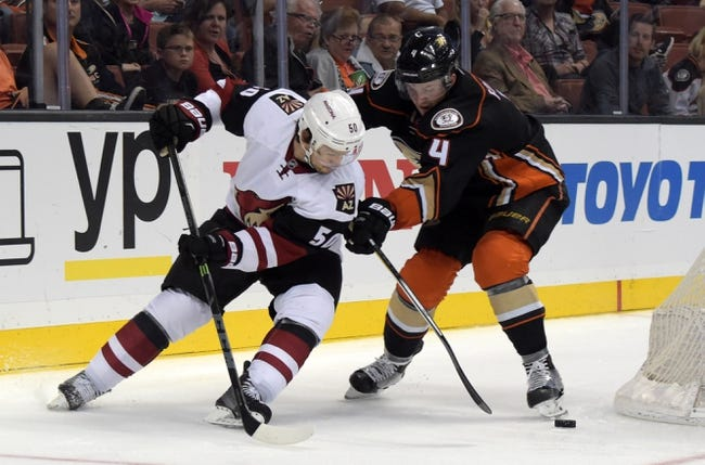 Anaheim Ducks vs. Arizona Coyotes - 11/9/15 NHL Pick, Odds, and Prediction