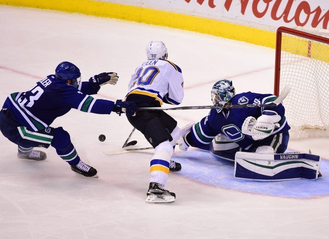 Canucks vs. Blues - 3/19/16 NHL Pick, Odds, and Prediction