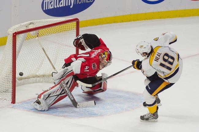 Nashville Predators vs. Ottawa Senators - 11/10/15 NHL Pick, Odds, and Prediction