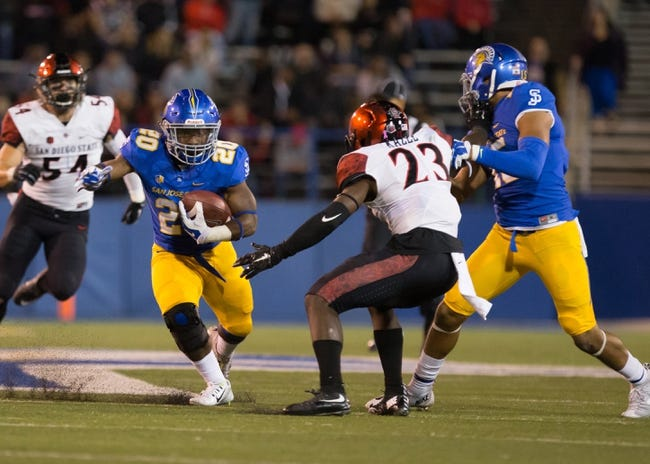 San Jose State Spartans at Tulsa Golden Hurricane - 9/3/16 College Football Pick, Odds, and Prediction