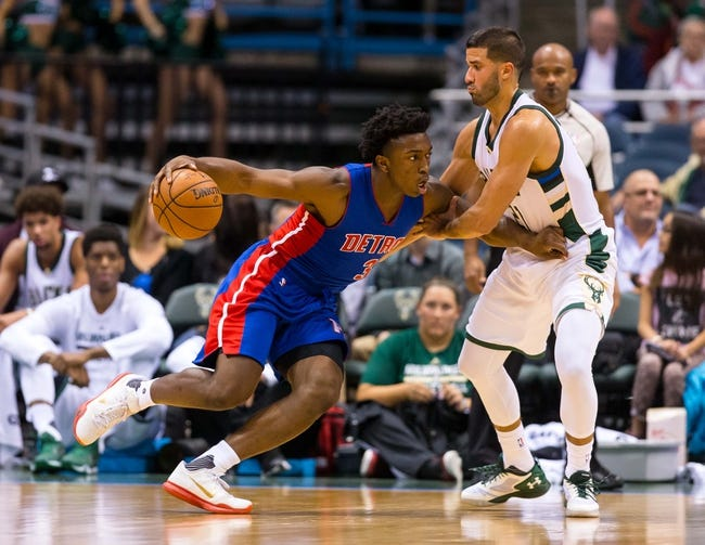 Milwaukee Bucks vs. Detroit Pistons - 11/23/15 NBA Pick, Odds, and Prediction