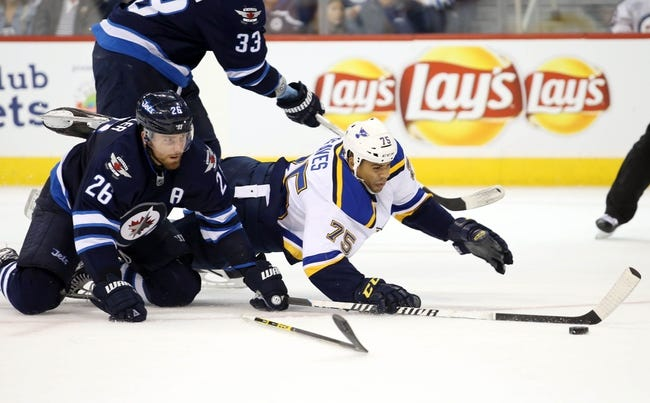 St. Louis Blues vs. Winnipeg Jets - 11/16/15 NHL Pick, Odds, and Prediction