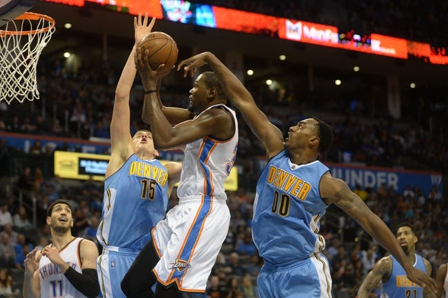 Nuggets at Thunder - 11/1/15 NBA Pick, Odds, and Prediction