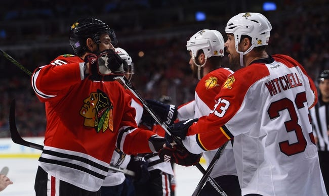 Florida Panthers vs. Chicago Blackhawks - 1/22/16 NHL Pick, Odds, and Prediction