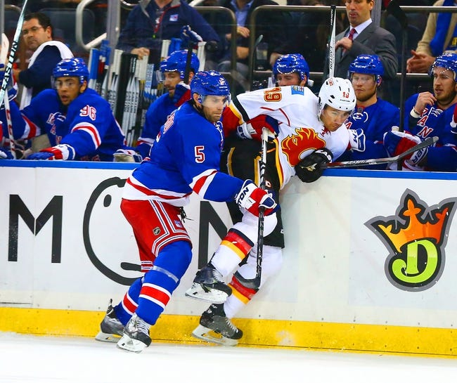 Calgary Flames vs. New York Rangers - 12/12/15 NHL Pick, Odds, and Prediction