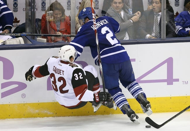 Arizona Coyotes vs. Toronto Maple Leafs - 12/22/15 NHL Pick, Odds, and Prediction