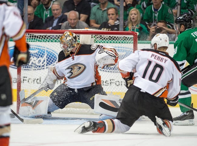 Ducks vs. Stars - 1/15/16 NHL Pick, Odds, and Prediction