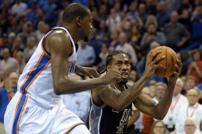 San Antonio Spurs vs. Oklahoma City Thunder - 3/12/16 NBA Pick, Odds, and Prediction