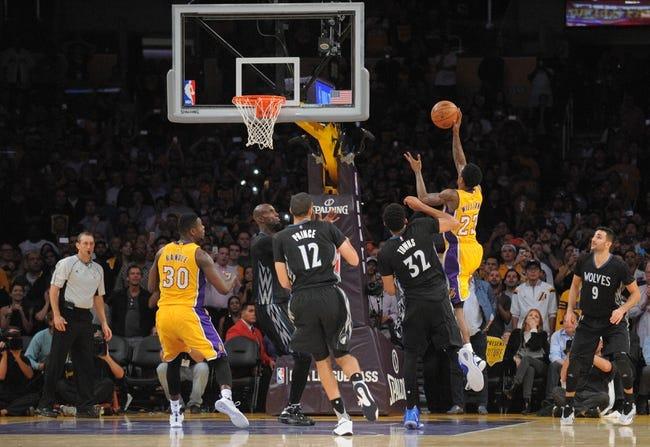 Timberwolves vs. Lakers - 12/9/15 NBA Pick, Odds, and Prediction