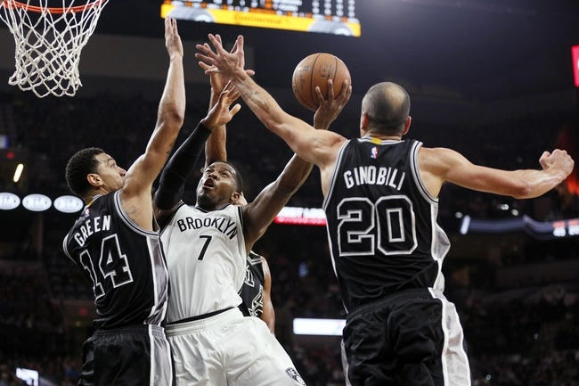 Brooklyn Nets vs. San Antonio Spurs - 1/11/16 NBA Pick, Odds, and Prediction