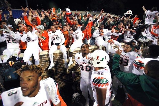 Miami Hurricanes vs. Virginia Cavaliers - 11/7/15 College Football Pick, Odds, and Prediction