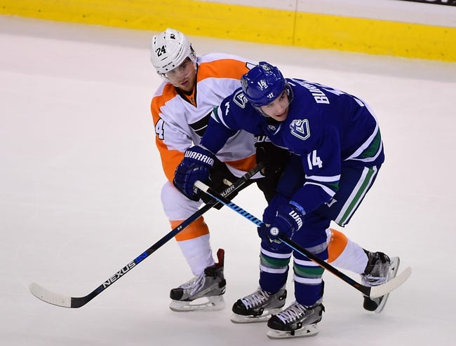 Philadelphia Flyers vs. Vancouver Canucks - 12/17/15 NHL Pick, Odds, and Prediction