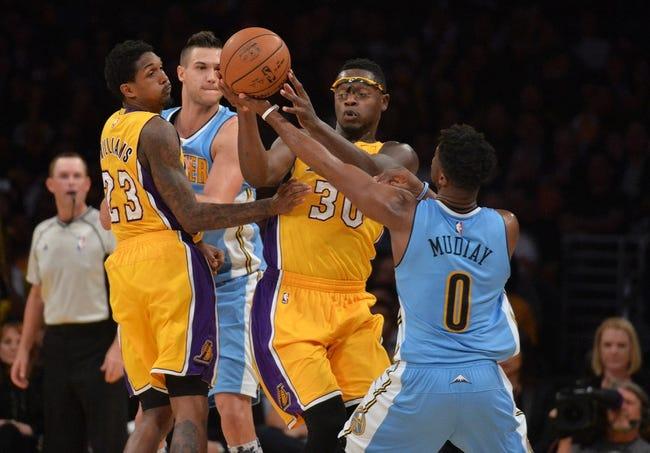 Lakers at Nuggets - 12/22/15 NBA Pick, Odds, and Prediction