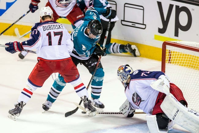 Columbus Blue Jackets vs. San Jose Sharks - 11/22/15 NHL Pick, Odds, and Prediction
