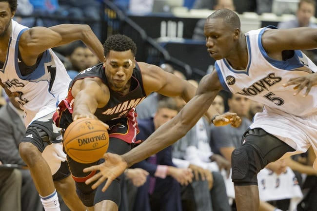 Miami Heat vs. Minnesota Timberwolves - 11/17/15 NBA Pick, Odds, and Prediction