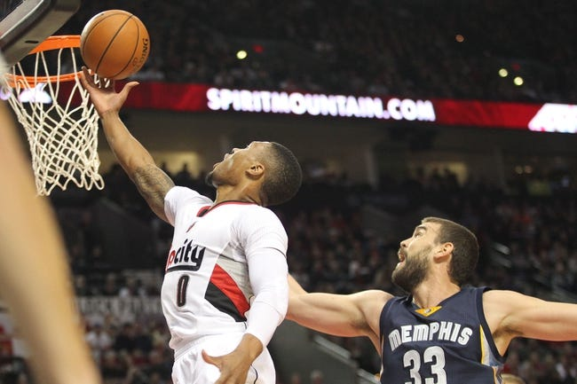 Trail Blazers vs. Grizzlies - 1/4/16 NBA Pick, Odds, and Prediction