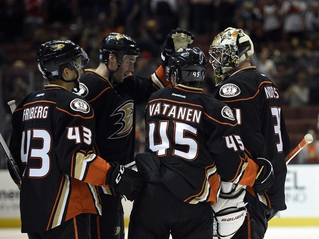 Columbus Blue Jackets vs. Anaheim Ducks - 2/11/16 NHL Pick, Odds, and Prediction