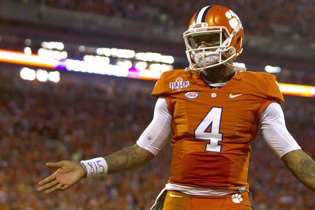 Syracuse Orange vs. Clemson Tigers - 11/14/15 College Football Pick, Odds, and Prediction