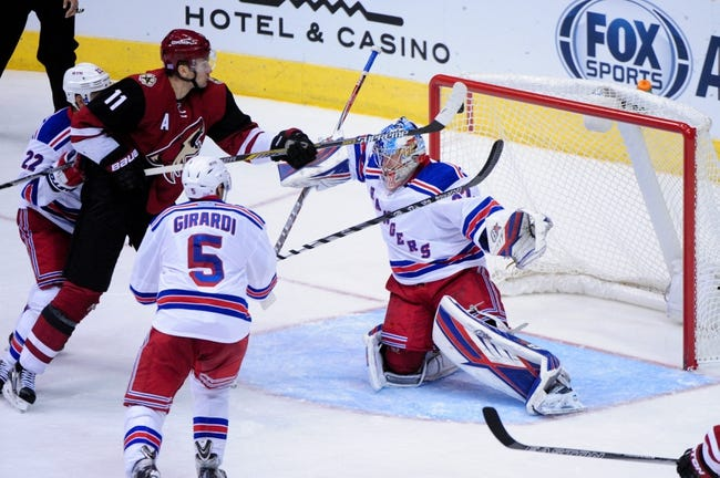 New York Rangers vs. Arizona Coyotes - 10/23/16 NHL Pick, Odds, and Prediction