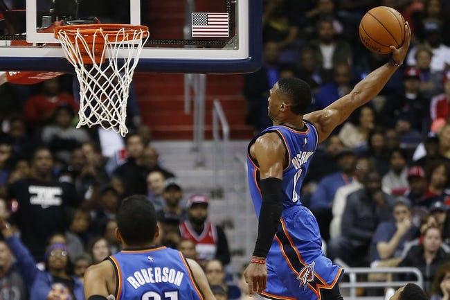 Wizards at Thunder - 2/1/16 NBA Pick, Odds, and Prediction