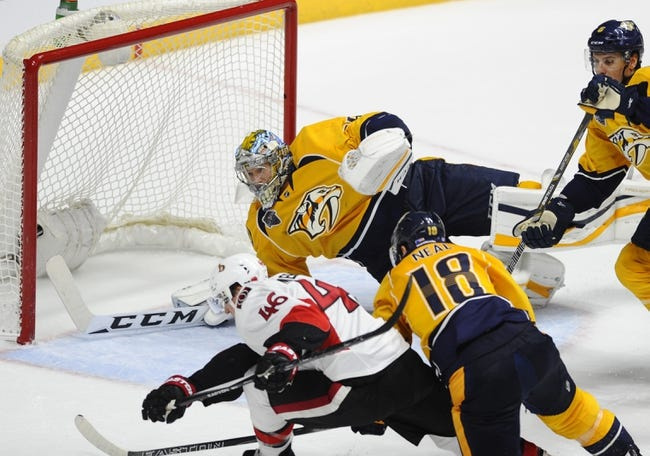 Nashville Predators vs. Ottawa Senators - 11/8/16 NHL Pick, Odds, and Prediction
