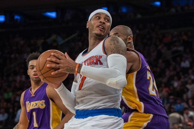 Lakers vs. Knicks - 3/13/16 NBA Pick, Odds, and Prediction