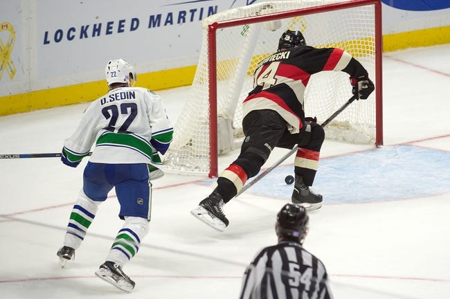 Canucks vs. Senators - 2/25/16 NHL Pick, Odds, and Prediction