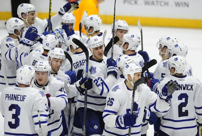 Toronto Maple Leafs vs. Nashville Predators - 2/23/16 NHL Pick, Odds, and Prediction