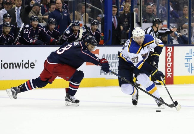 St. Louis Blues vs. Columbus Blue Jackets - 11/28/15 NHL Pick, Odds, and Prediction